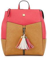 Gianni Bini Tasseled Colorblocked Backpack
