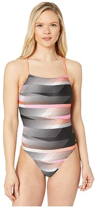 Speedo Fast Way Strappy Cross-Back One-Piece (Pink) Women's Swimsuits One Piece