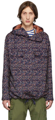 Engineered Garments Navy Floral Jacquard Shirt