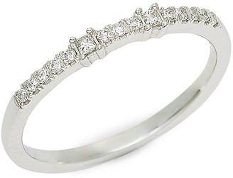 Saks Fifth Avenue 14K White Gold Diamond Band Ring