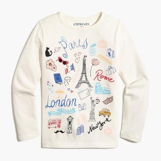 J.Crew Girls' Paris travel graphic tee