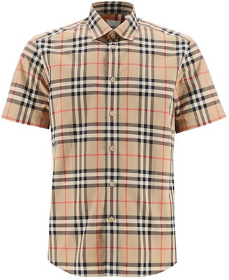 Burberry Vintage Check Print Short Sleeve Shirt
