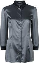 Dolce & Gabbana cropped sleeve shirt - women - Silk/Spandex/Elastane - 42