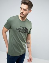 The North Face Easy T-Shirt Large Logo in Green