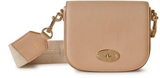 Mulberry Small Darley Satchel Light Salmon Silky Calf with Webbing Strap