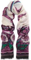 Etro Printed Cashmere Scarf - Purple