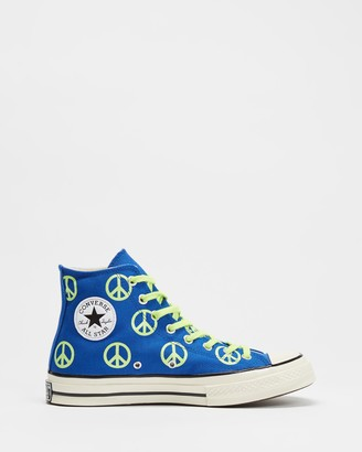 Converse Blue Hi-Tops - Chuck Taylor All Star 70 Unleash Peace High Top - Unisex - Size M8/W10 at The Iconic