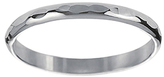Journee Collection Sterling Silver Hammered Band