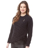 Ted Baker Colour By Numbers Womens Jaia Jumper With Fringing Black