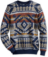 American Rag Men's Blanket Stripe Geo-Print Sweater, Only at Macy's