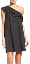 NSR Women's One-Shoulder Ruffle Dress