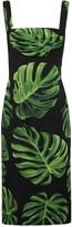 Dolce & Gabbana Leaf Printed Dress
