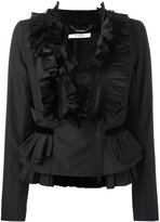 Givenchy frill zip-up blouse - women - Polyester/Viscose - 38