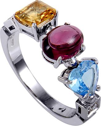 Bulgari 18K Diamond & Gemstone Ring