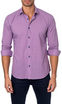 Jared Lang Long Sleeve Gingham Semi-Fitted Shirt