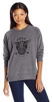 Obey Women's Peace and Justice Eagle Crew Neck Sweater