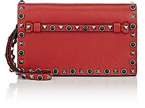 Valentino Garavani Women's Rockstud Leather Flap Clutch - Rosso