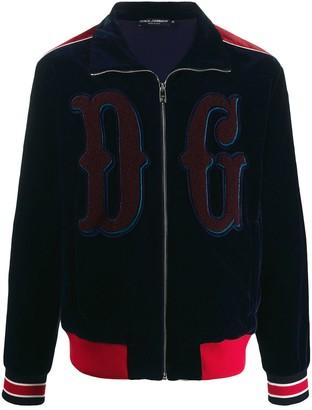 Dolce & Gabbana Embroidered Logo Sports Jacket