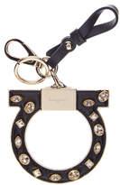 Salvatore Ferragamo Embellished Gancini Leather Keychain