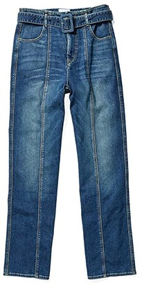 Colovos Seamed Leg Buckle Jeans (Medium Fade) Women's Jeans