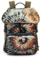 Valentino Painterly Deconstructed Nylon & Calf Leather Backpack