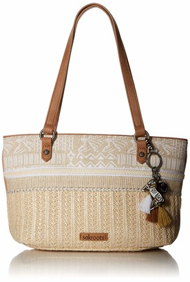 Sakroots Unisex's Ellis Straw Small Satchel Bag
