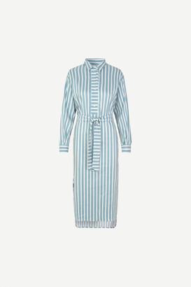 Samsoe & Samsoe Amara Shirt Dress Tourmaline - polyester | blue | S . - Blue/Blue