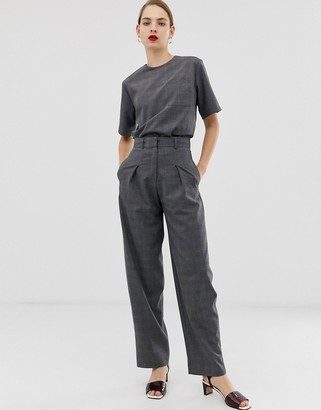 ASOS check two-piece pants
