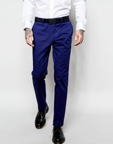 Sisley Slim Fit Suit Pants in Cobalt Blue