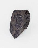 Le Château Italian-Made Paisley Print Silk Tie