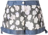 Giorgio Armani Pre Owned side ties floral shorts