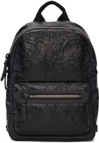 Lanvin Black Crinkled Leather Backpack