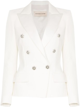Alexandre Vauthier Crystal-Embellished Double-Breasted Blazer