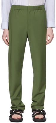 Tibi SSENSE Exclusive Green Eamon Pull-On Trousers