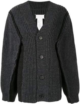 Maison Margiela exaggerated-sleeve button down cardigan