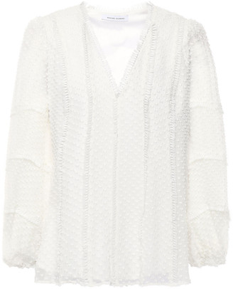 Rachel Gilbert Ollie Fringe-trimmed Fil Coupe Silk And Cotton-blend Blouse