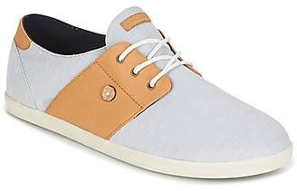 Faguo CYPRESS COTTON/LEATHER men's Shoes (Trainers) in Grey