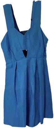 Sandro Spring Summer 2019 Blue Linen Dresses