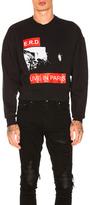 Enfants Riches Deprimes Live in Paris Sweatshirt in Black.