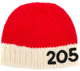 Calvin Klein 205W39nyc contrast logo beanie hat