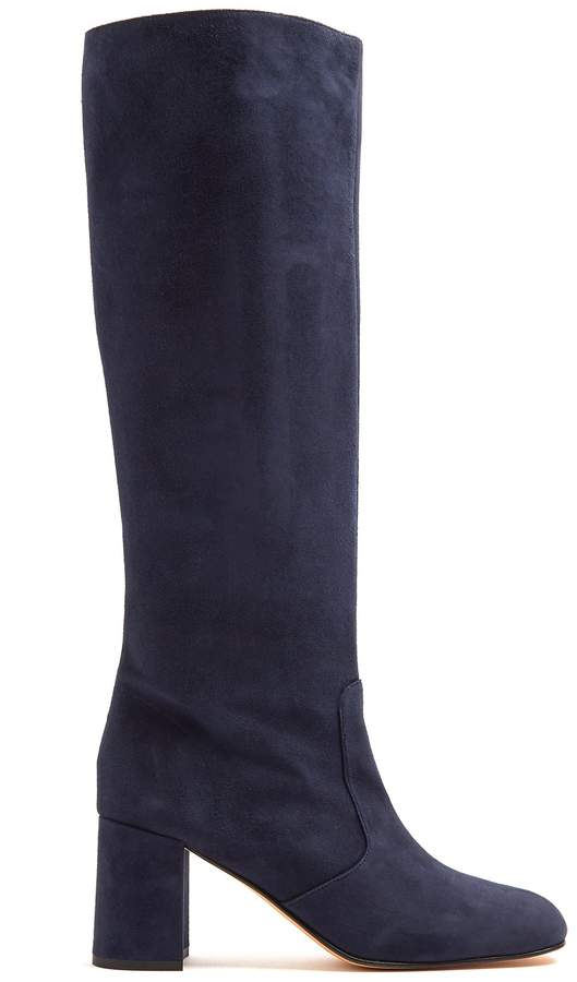 Maryam Nassir Zadeh Lune suede knee-high boots