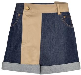 Monse Patchwork denim shorts