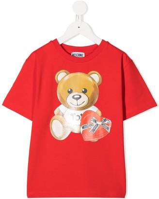 MOSCHINO BAMBINO Valentine's Teddy print T-shirt