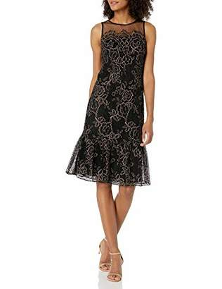 Adrianna Papell Women's Maria LACE MIDI Dress