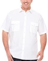 Claiborne Short-Sleeve Military Shirt - Big & Tall