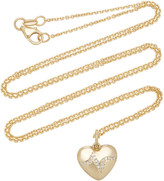 With Love Darling Heartbeat 14K Gold Diamond Necklace