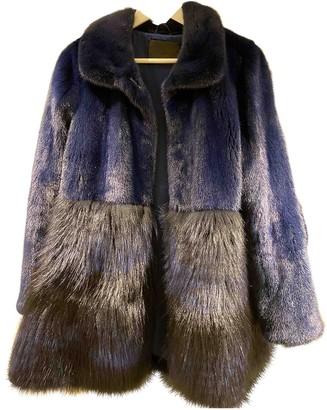 Co Navy Mink Coat for Women