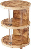 Theodore Alexander Terrace Tiered Side Table, Burl