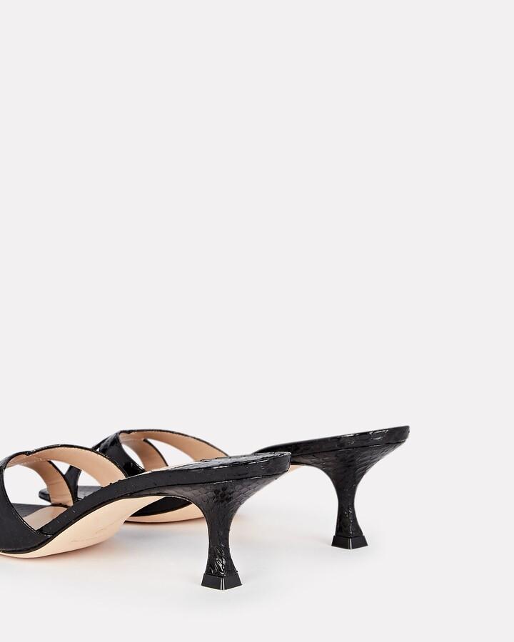 Thumbnail for your product : Manolo Blahnik Callamu Snake Slide Sandals