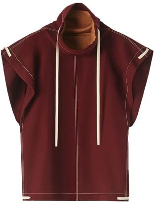 Dark Red Mock Collar Sweater